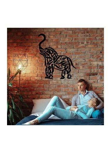 Baupor Exotic Elephant Metal Duvar Dekoru Siyah